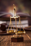 Schalenpb rechtvaardigheid Stock Foto's