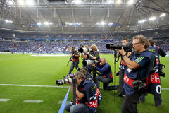 Schalke 04 εναντίον Paok Στοκ Φωτογραφία