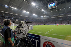 Schalke 04 εναντίον Paok Στοκ εικόνες με δικαίωμα ελεύθερης χρήσης