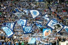 Schalke contra la liga de los campeones del PAOK fotografía de archivo libre de regalías