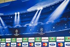 Schalke contra la liga de los campeones del PAOK Imagen de archivo