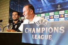 Schalke contra a liga dos campeões do PAOK Fotos de Stock Royalty Free