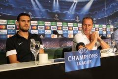 Schalke contra a liga dos campeões do PAOK Imagem de Stock Royalty Free