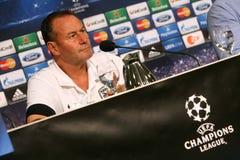 Schalke contra a liga dos campeões do PAOK Fotografia de Stock