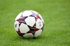 Schalke contre la ligue de champions de PAOK Photographie stock libre de droits