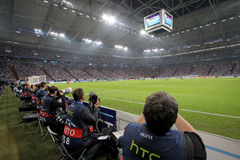 Schalke 04 contro Paok Immagini Stock