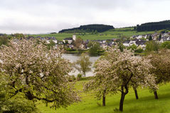 Schalkenmehren in the Eifel Royalty Free Stock Images