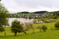 Schalkenmehren in the Eifel Stock Image