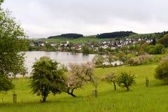 Schalkenmehren w Eifel Obraz Stock