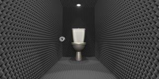 Schalldichte Toiletten-Zelle Stockfoto