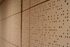 Schalldichte Wand in einem bandroom Lizenzfreie Stockfotografie
