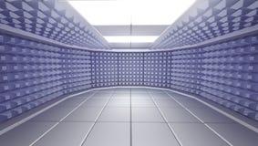 Schalldichter Rauminnenraum, 3d überträgt Lizenzfreies Stockbild