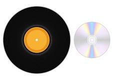 Schallplatte und CD Stockbild