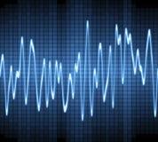 Schallwelle des elektronischen Sinus Stockbild