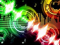 Schallwelle-Hintergrund zeigt Audioanalysator oder Tonfrequenz Lizenzfreies Stockbild