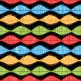 Schallwelle-nahtloses Muster Lizenzfreies Stockfoto