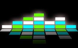 Schallwelle und Audiowelle Stockbild