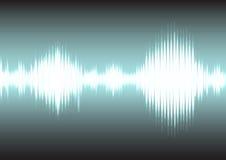Schallwelle und elektrischer Signalhintergrund Stockfotografie