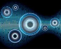 Schallwelle-Zusammenfassungshintergrund der Musik Stockbilder