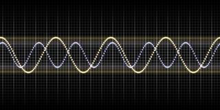 Schallwellegraphik vektor abbildung