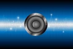 Schallwellehintergrund des Sprechers Stockbild