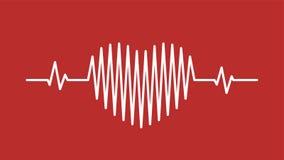 Schallwelleikone des Herzimpulses Lizenzfreie Stockfotos