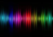 Schallwellen der Farbe stock abbildung