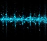Schallwellen der Musik lizenzfreie abbildung