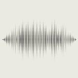 Schallwellen des Vektors eingestellt Audioentzerrertechnologie stock abbildung
