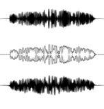 Schallwellen eingestellt Audioentzerrertechnologie, Impuls Stockfotografie