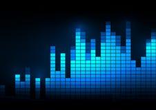 Schallwellevektorillustration Stockfoto