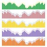 Schallwellevektorsatz Audioentzerrer Lizenzfreies Stockfoto