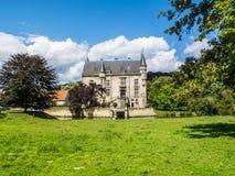 Schaloen slott i Oud-Valkenburg, landskap av Limburg, Nederländerna royaltyfri fotografi