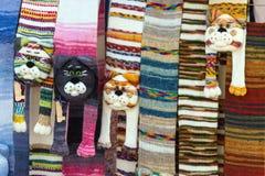 Schals, wie der Kopf einer Katze Stockbilder