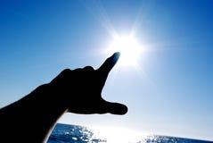 Schalten Sie den Sun an Stockfotografie