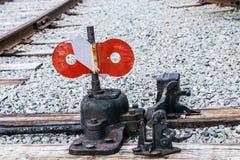 Schalten Sie Eisenbahnschwelle an Stockbild