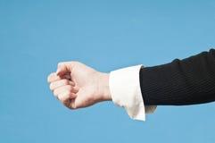 Schalten Sie Hand an Lizenzfreies Stockfoto