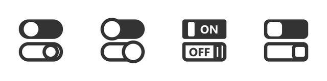 Schalten Sie Ikonenset Stockfotografie