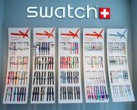 Schalten Sie Uhranzeige am Musterspeicher Lizenzfreies Stockfoto