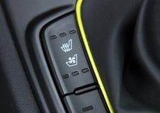 Schalter für die Heizung und das Abkühlen des Sitzes stockbild