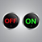 Schalter-Knopf-Vektor lizenzfreie abbildung