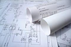 Schaltplan und Software Lizenzfreies Stockbild