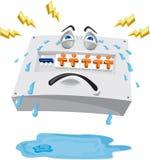 Schalttafel-schreiende Riss-Karikatur Stockbild