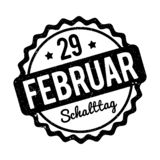 Schalttag 29 Februar Stempel German black on a white background. Royalty Free Stock Photography