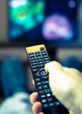 Schaltung Fernsehkanäle Stockbild
