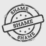Schande rubberdiezegel op witte achtergrond wordt geïsoleerd royalty-vrije illustratie