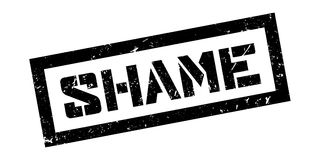 Schande rubberzegel stock illustratie