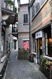 Schang-Hai ha caratterizzato l'architettura con vecchio stile Fotografie Stock Libere da Diritti