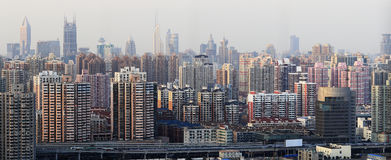 Schang-Hai, panorama Fotografie Stock