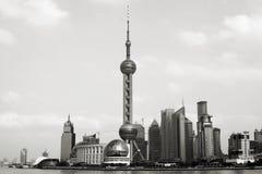 Schang-Hai - Pudong - torretta orientale della perla Fotografia Stock Libera da Diritti